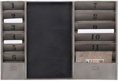 Benzara 56182 Utility Metal Message Board With With Numbering