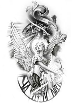 Arm Cover Up Tattoos, Cool Forearm Tattoos, Arm Tattoos For Guys, Half Sleeve Tattoos Designs, Angel Tattoo Designs, Small Tattoo Designs, Tattoo Sketches, Tattoo Drawings, Athena Tattoo