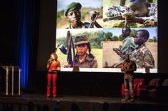 Ava & Fazineh speaking about child soldiers at BIL 2015