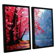 Graham Gercken River Bend 2 Piece Framed Painting Print Set