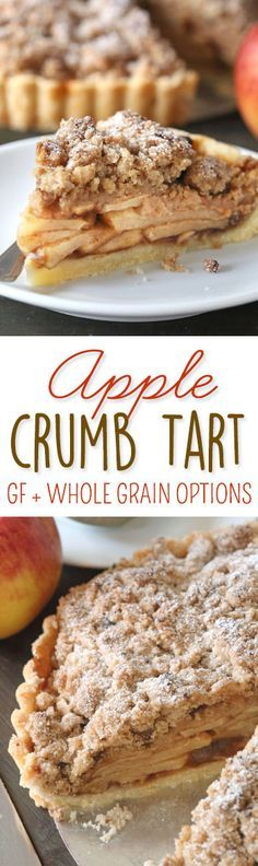 This apple crumb tart is topped with a hefty amount of streusel and has…