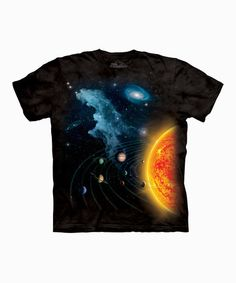 Take a look at this Black Solar System Tee - Toddler & Kids by The Mountain on #zulily today!