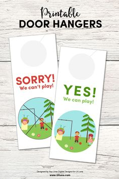 FREE Printable Door Hangers to help kids know when their friends can play or not. Perfect for summer! { lilluna.com }