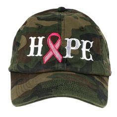 HOPE PINK RIBBON BASEBALL HAT | pink Ribbon Clothing