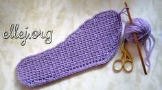 Как вязать подошву крючком. Подошва уплотненным полотном. How to crochet...