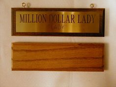 Horse Stall Nameplate Plate Brass Mounted on Wood Plaque 3 Lines of Engraving | eBay