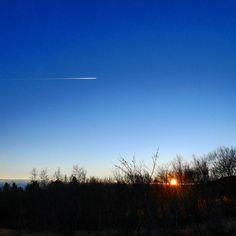 Heading for nowhere.  #sunsets #silhouette #trees #blueskies #naturelover #landscape_captures #travelgram #iceland #getoutside #explore