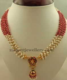 Simple Set with Floral Jhumka Locket | Jewellery Designs