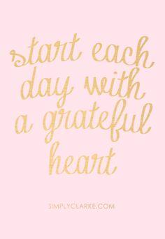 Start each day....
