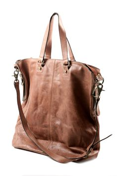 Nu New York Large Cowhide Bag Bagleather Bagsbrown Leatherleather Pursessoft