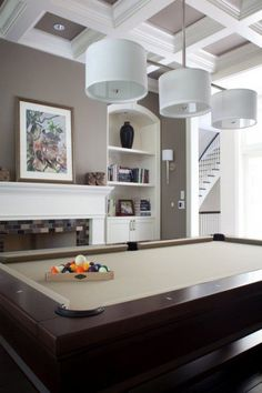 27 Interior Designs with Custom pool tables Interiorforlife.com Lovely Brunswick table in a beautiful space.