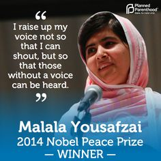 Congratulations to the remarkable Malala Yousafzai — fearless activist, inspiring leader, and the youngest-ever winner of the Nobel Peace Prize.