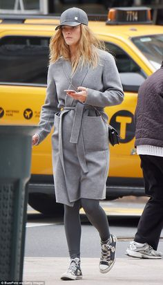 Casual outing: Nina Agdal went make-up free in New York City on Tuesday...
