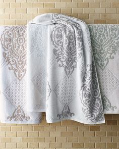 """""""Toscana"""" Towels by Kassatex at Horchow. Bath Linens, Dorm Room, Household, Curtains, Traditional, Towels, Blanket, Bed, Home Decor"""