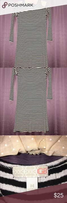 Black and White stripes Open shoulder soft cotton with just enough spandex to keep its shape. GB Dresses Mini