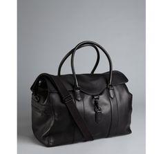 Ben Minkoff black leather 'Bru Weekender' travel bag USD 388