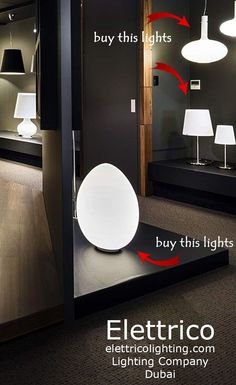 Modern floor and table lights for a living room or bedroom in residential houses. Get lighting design ideas and ispiration  on our website. Lights from the image are available to buy in Dubai. Elettrico lightig showroom. Check out out website.