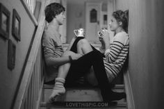 cute couple love relationships photography couples coffee blackandwhite drinking