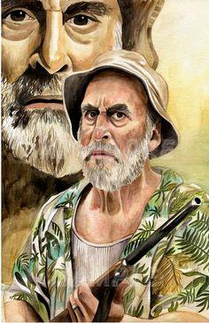 Dale - The Voice of Reason Watercolor with Digital flares. #TWD #Dale #TheWalkingDead #Jeffrey DeMunn #ArtistAJMoore www.etsy.com/shop/artistajmoore