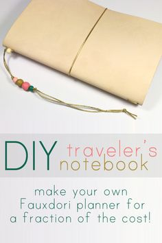 Stamped in His image: DIY Midori-Style Traveler's Notebook Tutorial #Travel…