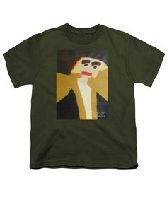 Patrick Francis Military Green Designer Youth T-Shirt featuring the painting The Graduate 2014 by Patrick Francis