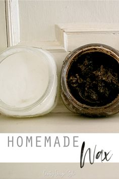 How to make wax homemade and save lots of money. Clear soft, hard, and antiquing dark wax. Country Design Style #homemadewax #paintwaxdiy #diypaintwax