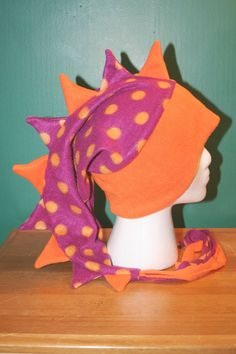 REDUCED 25% Bright Orange/Purple With Orange by thelopsidedfrog, $15.00