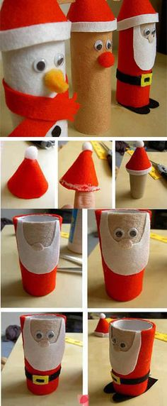 Paper Roll Christmas Craft diy crafts christmas easy crafts diy ideas christmas crafts christmas decor christmas diy christmas crafts for kids paper roll crafts crafts for christmas chistmas tutorials christmas crafts for kids to make santa gifts Christmas Activities, Christmas Crafts For Kids, Christmas Projects, Kids Christmas, Holiday Crafts, Christmas Decorations, Christmas Ornaments, Father Christmas, Paper Towel Crafts
