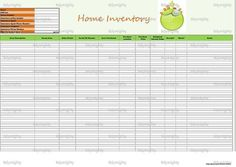 A home inventory is an excellent way to keep track of all your possessions and valuables. It is great for insurance purposes should anything ever happen to your home. This document is an Excel template which allows you to download the file to your computer, save it, and customize it to fit your household. I created this file to help me keep track of my possessions. I recommend keeping in a fireproof safe along with other important documents.    This home inventory tracker contains (1)…