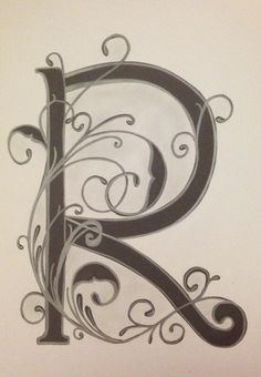 Letter R by Vera
