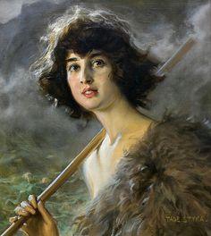 Tadeusz Styka (Polish,1889 - 1954), Young shepherd.
