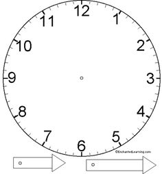 Basic Clock Face Template by Annie's Uncommon ARTicles, via Flickr- Lots of good templates to use here!