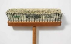 World's most expensive broom made from hundreds of shredded dollar bills | 21 Things Made Out Of Cold, Hard Cash