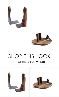 """""""Vintage wood items for your home and office"""" by underlyingsimplicity ❤ liked on Polyvore featuring interior, interiors, interior design, home, home decor, interior decorating and vintage"""
