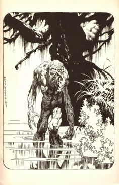 Swamp Thing by Bernie Wrightson. I like this style.