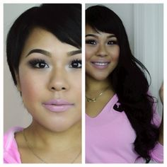 How to clip in hair extensions for very short hair/ MyPinkVanity and Hai...
