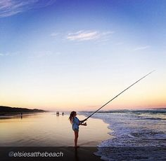 Early morning fishing on Fraser's eastern beach. Thanks to Elsie for the share #fraserisland #fraserislandfishing #homeoffishing #kingfisherbay #hooked #visitfraserisland #thisisqueensland