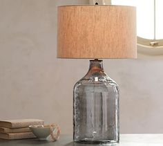 Alana Luster Glass Jug Table Lamp Base - Indigo ($150 at Pottery Barn)