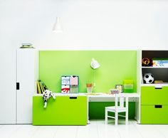 Bought this storage system for the playroom, only we are doing pink doors instead of green!  Ikea Stuva