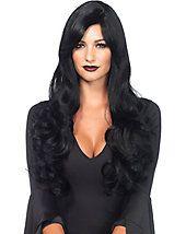 Women's Long Black Wavy Sexy Wig - wigs-black - wigs