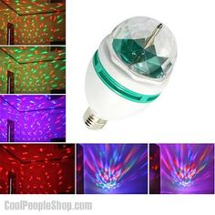 Generic RGB Crystal Ball Effect Light LED Rotating Stage Lighting For Disco DJ Party (I actually have this and recommend it) Disco Light Bulb, Disco Lights, Light Bulb Lamp, Party Lights, Ball Lights, Light Led, Disco Party, Disco Ball, Dj Party