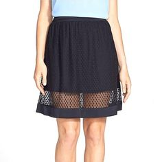 EDITOR PICK Black dotted mesh overlay skirt ‼️2x HOSTPICK‼️ A-line silhouette skater circle high-waisted high waisted skirt with circle dotted pattern on a mesh overlay. Sheer panel towards the bottom, very on trend for spring and summer! Miniskirt cut, but not too short. Top is lined above the sheer lace section, solid black trim at the hem. 20 and a half inch total length. OPEN TO OFFERS! @danystormborn -️ Suggested User, Top Seller Skirts