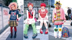 The quirky packs of fashionistas that gathered in Harajuku were documented by legendary magazine FRUiTS. But, asks Lindsay Baker, has the Tokyo district's wild spirit now been tamed? Tokyo Fashion, Harajuku Fashion, 90s Fashion, Fashion Outfits, Harajuku Style, Fashion Weeks, Kurt Cobain, Grunge, Hip Hop