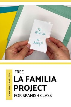 Family words are one of those things everyone has to cover, whether you teach with a textbook or not. Here's a quick idea for practicing la familia vocabulary! Check out this FREE download for a final project, test, assessment, or just a review of family vocabulary for your unit! Spanish Classroom, Teaching Spanish, Sentence Prompts, Middle School Spanish, Spanish Lesson Plans, Spanish 1, Personal History, Class Activities, Word Families