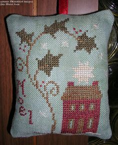 Christmas ornament cross stitch noel house