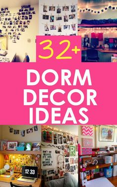 Dorm Decorating Ideas college student tips #college #student