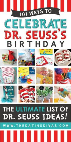 Wowzer This Is The Ultimate List Of Dr. Seuss Ideas Activities, Crafts, Recipes, And Printables Perfect For Celebrating Dr. Seusss Birthday This Year Dr. Seuss, Dr Seuss Week, Dr Seuss Crafts, Preschool Crafts, Crafts For Kids, Dr Seuss Activities, Activities For Kids, Sequencing Activities, Dr Seuss Snacks