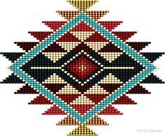 native american beadwork patters Native American Southwest-Style Rainbow Sunburst Poster by Ricky Barnes - Native American Patterns, Native American Design, Native Design, Native Beadwork, Native American Beadwork, Indian Beadwork, Motifs Blackwork, Tapete Floral, Beadwork Designs