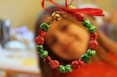 Green Owl Art: Mini Bead Wreath
