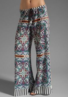 Clover Canyon Paisley Road Pant in Multi http://redir.ec/36cMx #60s Flower Power Fashion